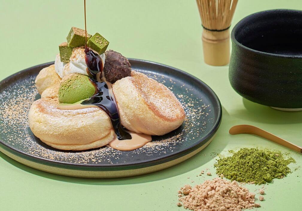 flippers 奇跡のパンケーキ 深煎りきな粉と宇治抹茶