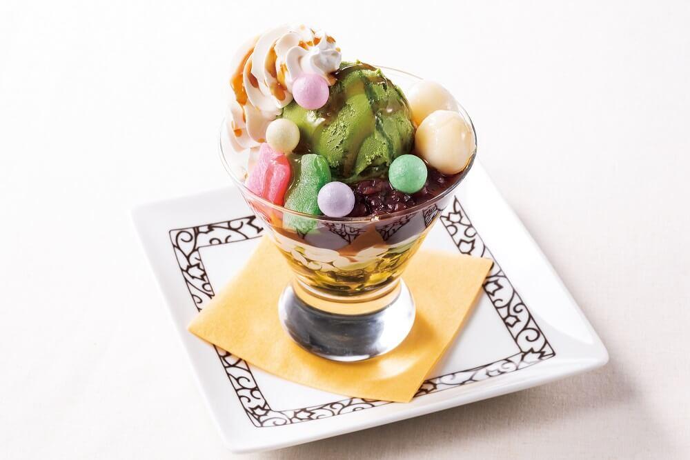 元町珈琲 抹茶と黒蜜のパフェ