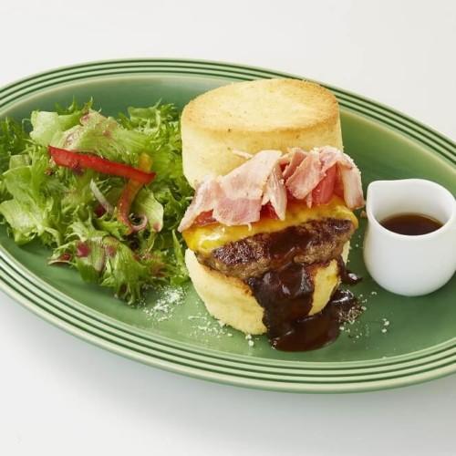 Butter チーズとベーコンのふわふわスフレバーガー