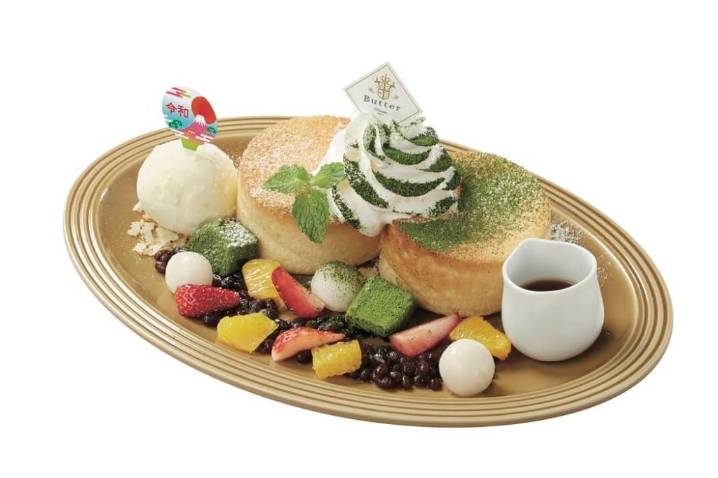 Butter 令和風 ふわふわスフレとフルーツのパンケーキ ~ゆずシャーベット添え~