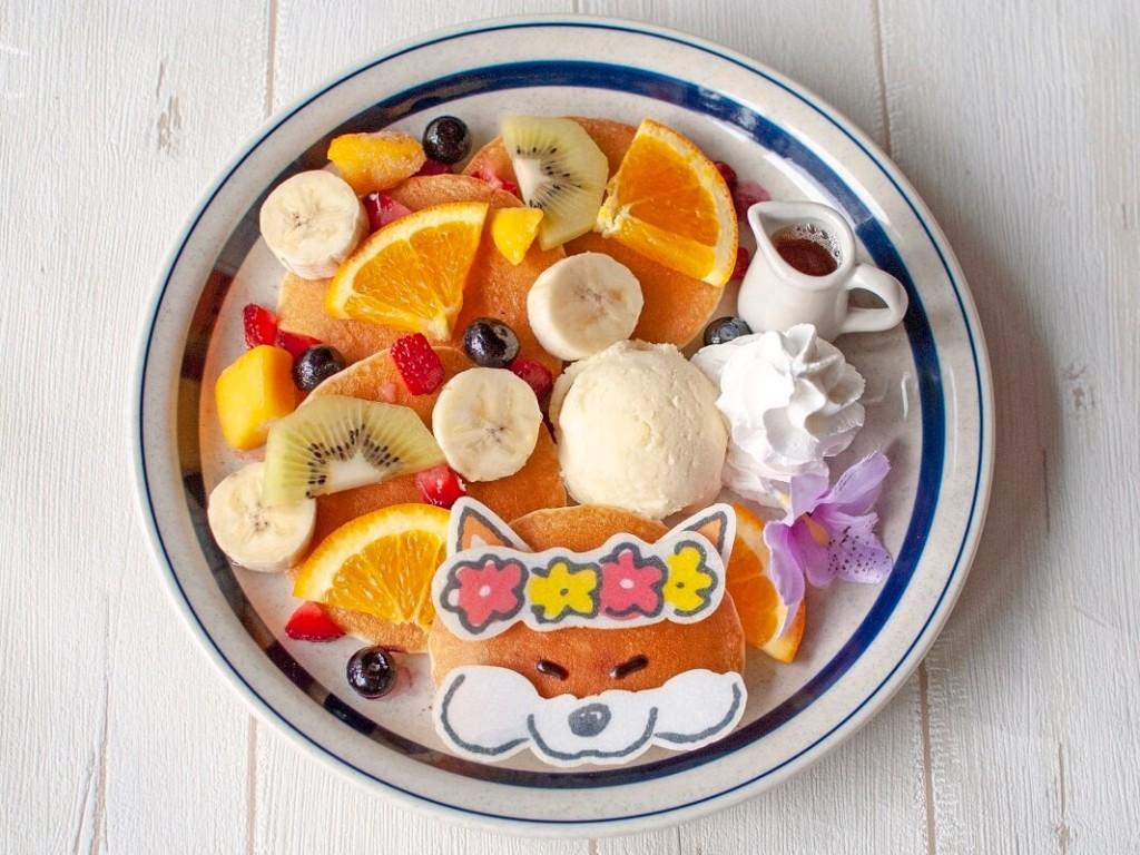 『しばんばん×ハンズカフェ』コラボメニュー トロピカルフルーツパンケーキ