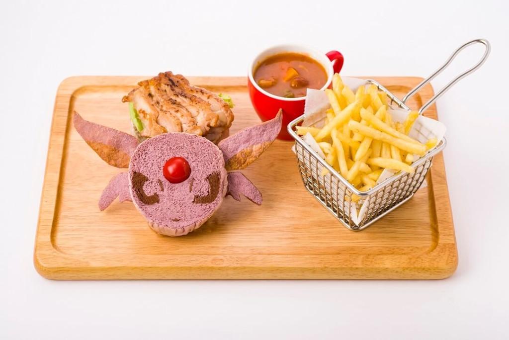 ポケモンカフェ 『ポケットモンスター 金・銀』メニューエーフィの照り焼きチキンバーガー