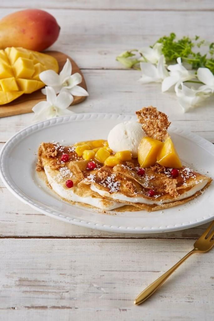 Afternoon Tea × ブラウンシュガーファースト コラボメニュー ライ麦のクレープ マンゴーココ&有機ココナッツシュガー