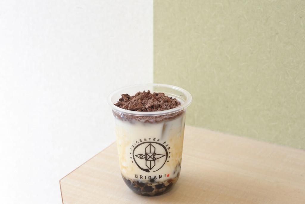 juice&tea bar ORIGAMI 高カカオ86%使用 チョコバナナタピオカ