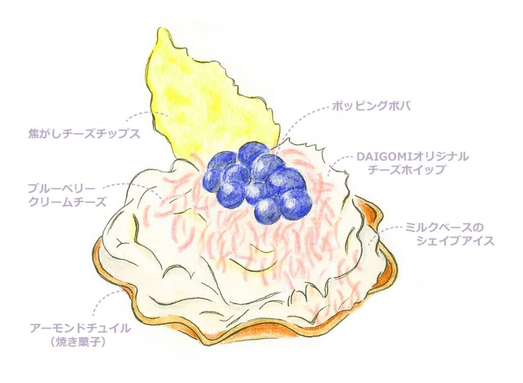 DAIGOMI BURGER 新作メニュー チーズシェービングケーキ
