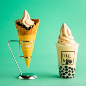 「ラ・ボエムクアリタ 渋谷」でタピ活!自家製ミルクティーソフトクリームのタピオカスイーツ2種登場