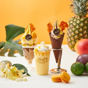【リンツショコラカフェ】夏限定のソフトクリームショコラ第3弾!8月は「トロピカル」