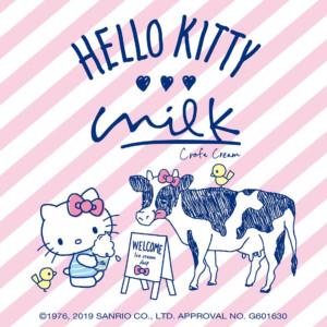 「ハローキティ×生クリーム専門店ミルク」のコラボが決定!キティちゃんが大好きなリンゴを使った限定メニュー発売