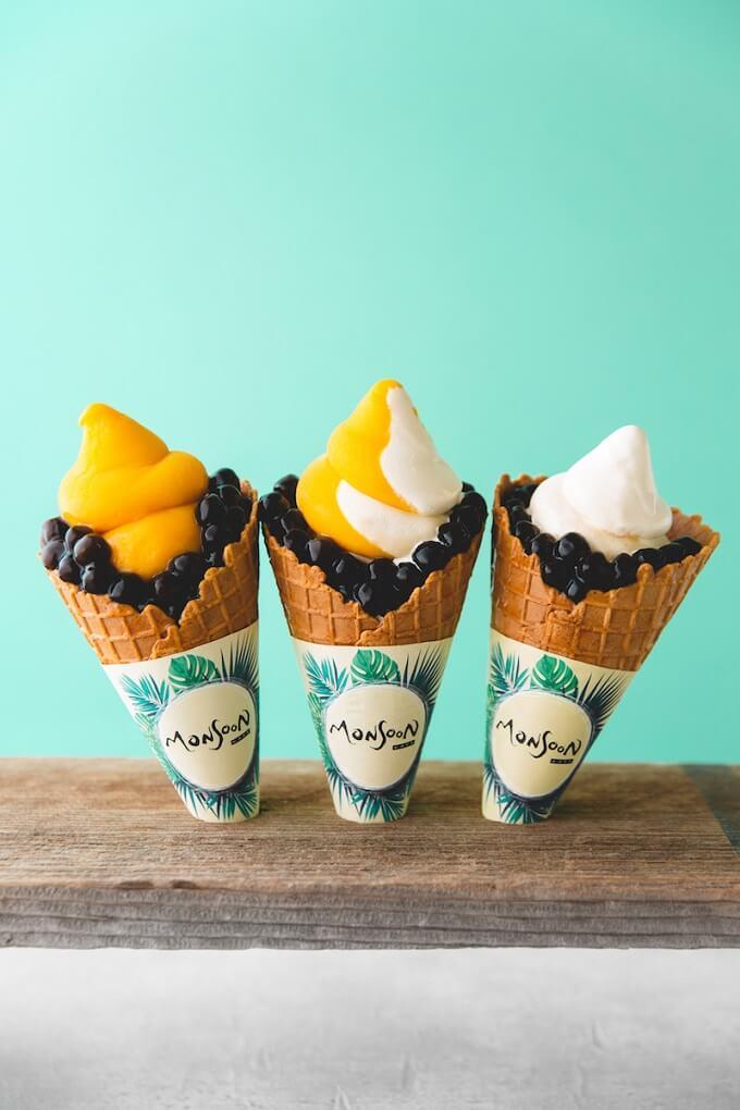 モンスーンカフェ さいたま新都心 限定タピオカソフトクリーム