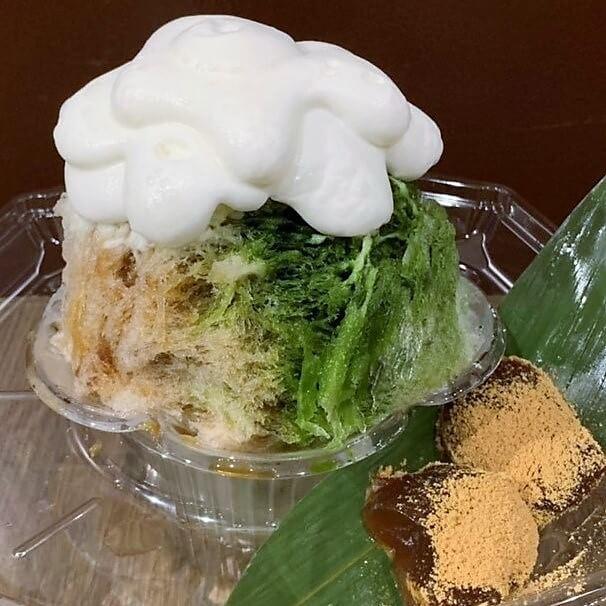 2色氷 吾妻蕨イケセイスペシャル(黒糖&宇治抹茶)