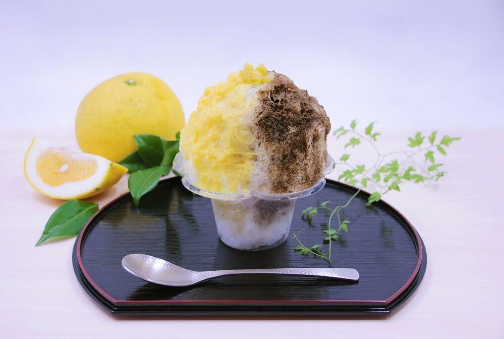 八屋 ほうじ茶と美生柑のかき氷