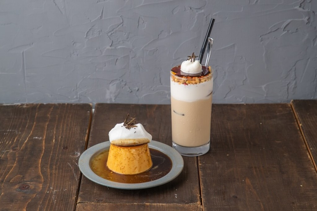 #802 CAFE&DINER 自家製チーズクリームのほうじ茶ラテ