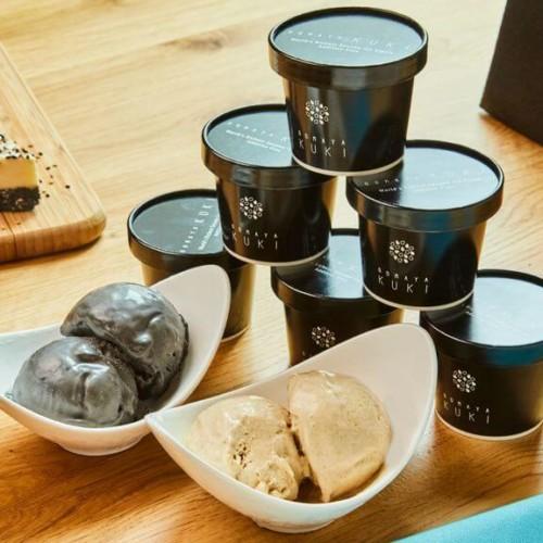 ゴマアイス専門店「GOMAYA KUKI(ごまや くき)」 超特濃ごまアイスセット