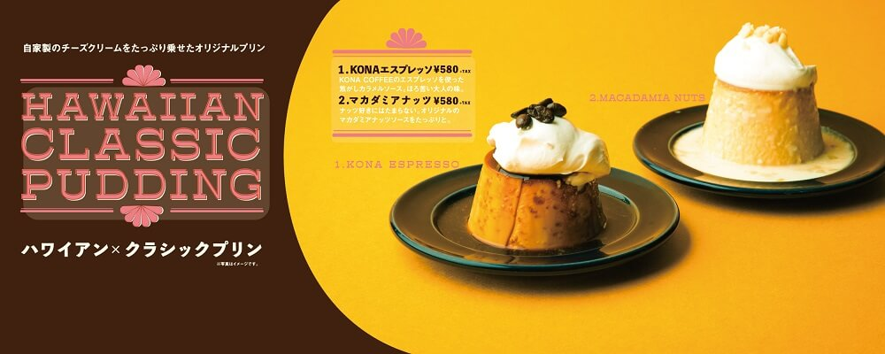 hole hole cafe&diner 「Hawaiian × Classic Pudding」