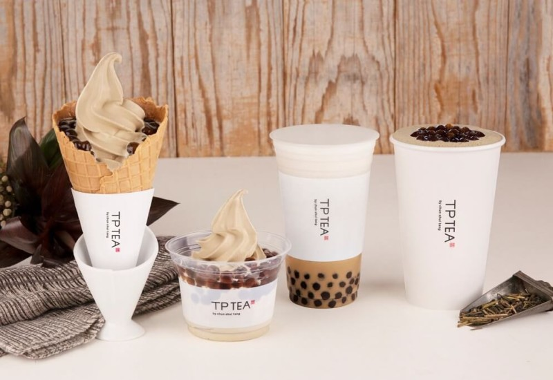 TP TEA タピオカほうじ茶ラテ タピオカほうじ茶ソフトクリーム