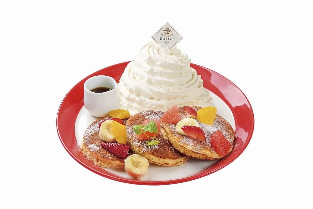 Butter ミックスフルーツのホワイトマウンテン パンケーキ