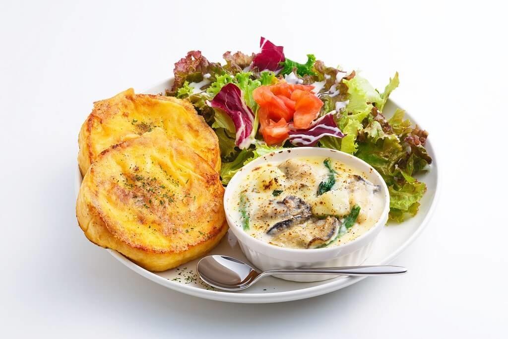 フレンチトースト専門店『Ivorish(アイボリッシュ)』牡蠣ポパイグラタン