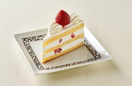 元町珈琲 冬フェスタメニュー ストロベリーショートケーキ