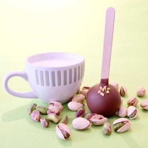 ボンヌカフェ ホットスティックチョコレート ピスタチオミルク