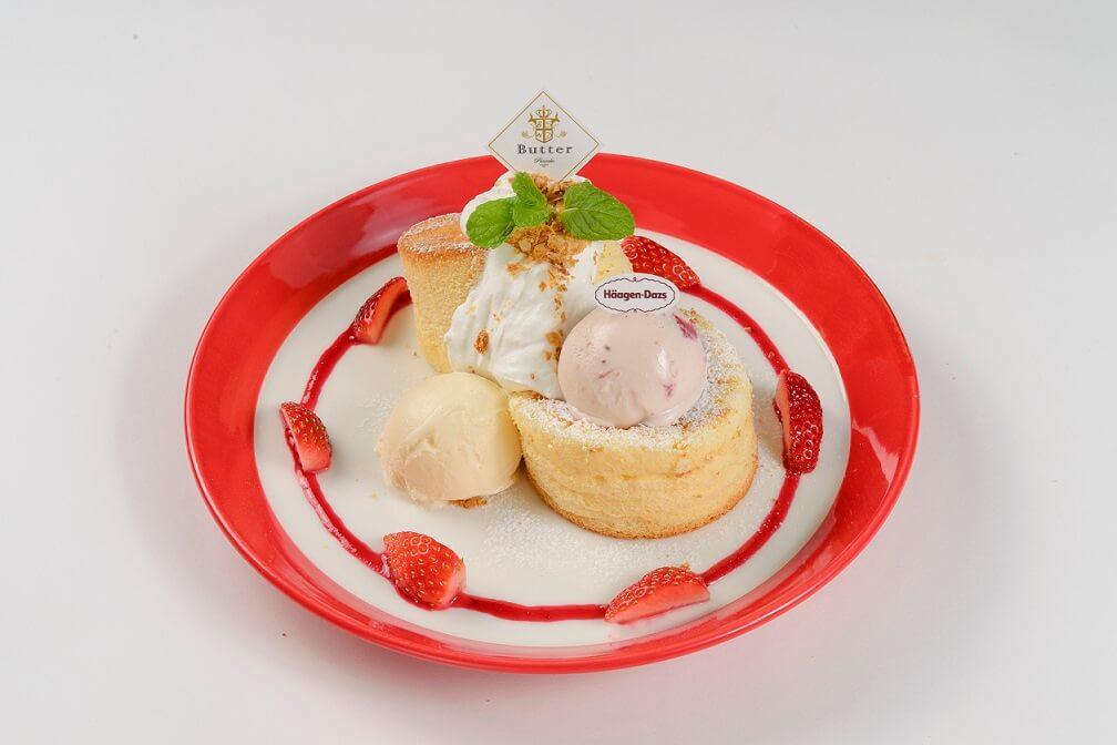 パンケーキ&カフェ『Butter(バター)』 ハーゲンダッツアイスクリーム スフレクラシック