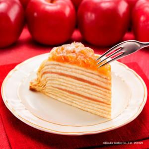 ドトールコーヒーで冬に食べたいケーキ 『国産りんごとカラメルのミルクレープ』を発売開始!