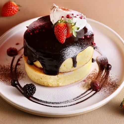 マーファカフェ バレンタインショコラパンケーキ