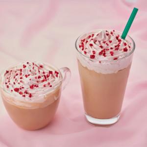 """《タリーズコーヒー》第4のチョコ """"ルビーチョコレート""""を使用した、バレンタイン限定ホワイトモカ発売!"""