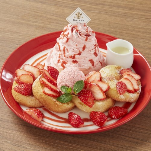 Butter 苺づくしのふわふわスフレパンケーキ ~フレンチトースト仕立て~