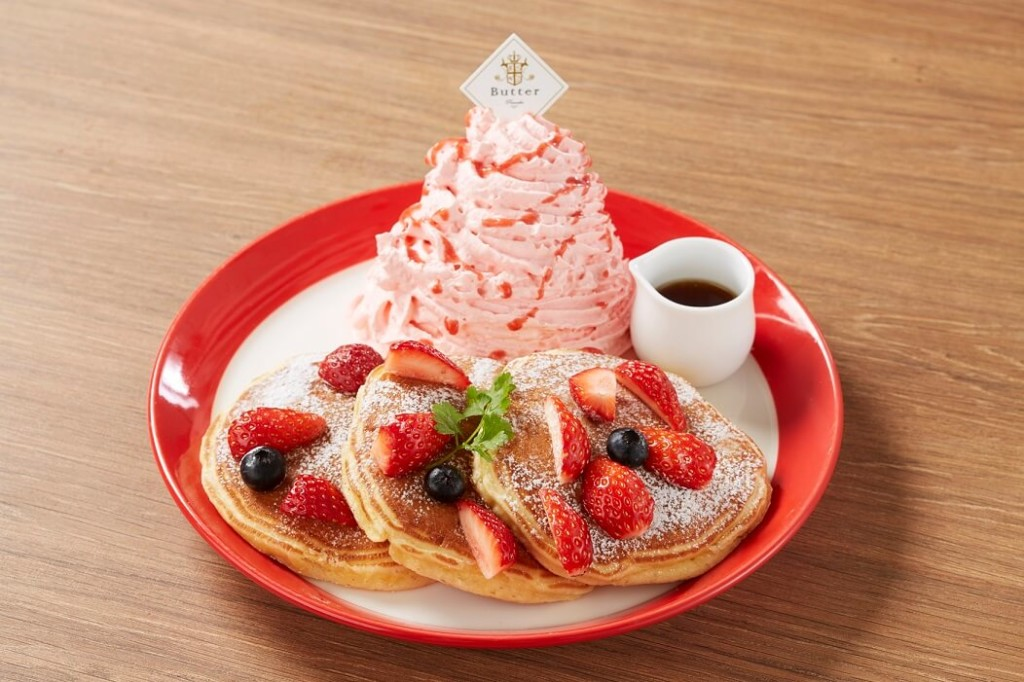 Butter 贅沢イチゴのピンクマウンテンパンケーキ