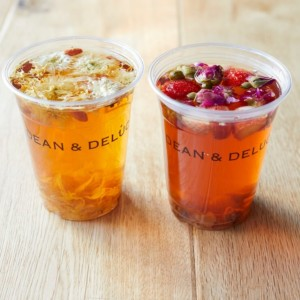 DEAN & DELUCA CAFE ホワイトフラワーティー レッドフラワーティー