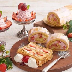 【期間限定】キハチカフェで苺クリームパフェなどイチゴスイーツ3種を発売!