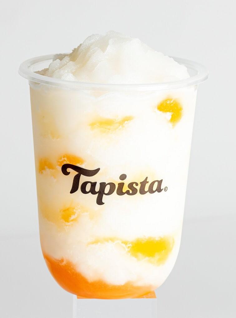 タピオカ専門店Tapista とろとろ果肉の白桃ソルベ