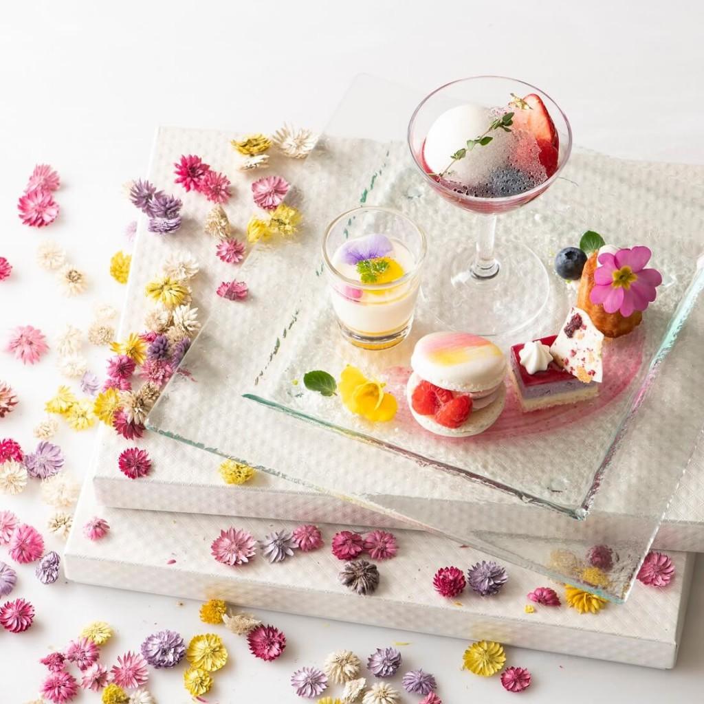 アニヴェルセルカフェ みなとみらい横浜 Spring Flower Plate