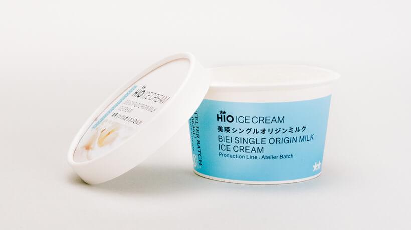 HiO ICE CREAM × ナチュラルローソン美瑛シングルオリジンミルク