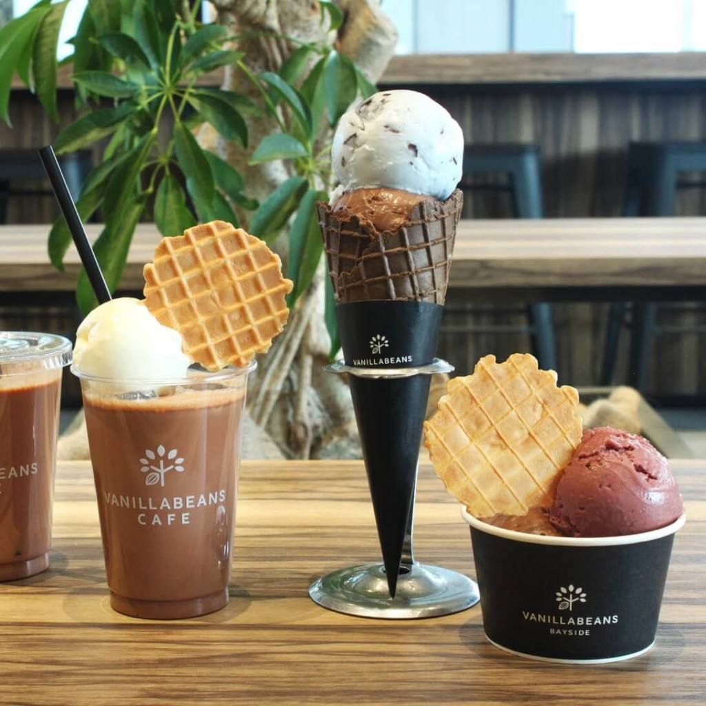 チョコレート専門店「VANILLABEANS BAYSIDE」アイスクリーム&ドリンク