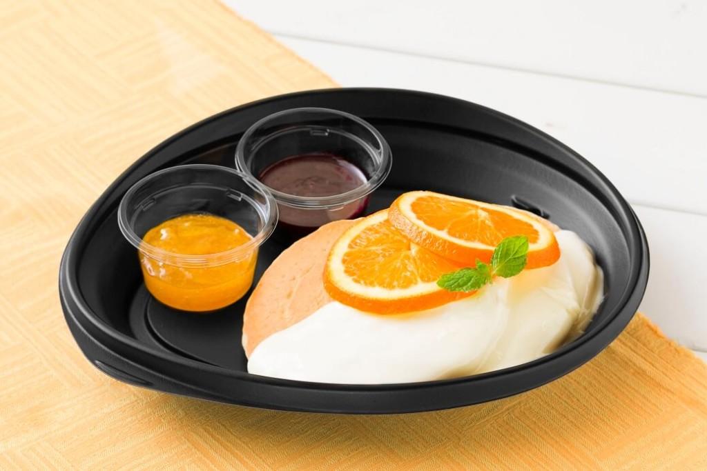 エッグスンシングスカシスとオレンジのパンケーキ テイクアウト