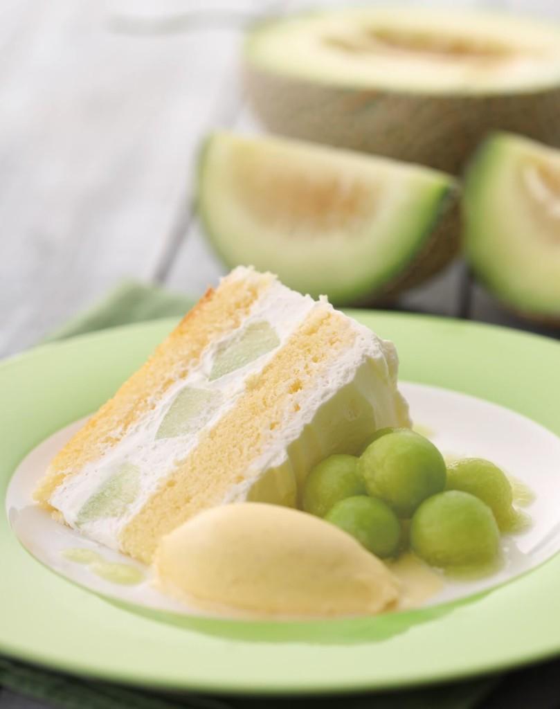 キハチカフェ メロンのショートケーキ