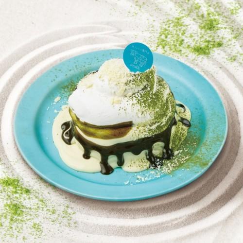 生クリーム専門店MILK 究極の生クリームの宇治抹茶ホワイトチョコミルクパンケーキ