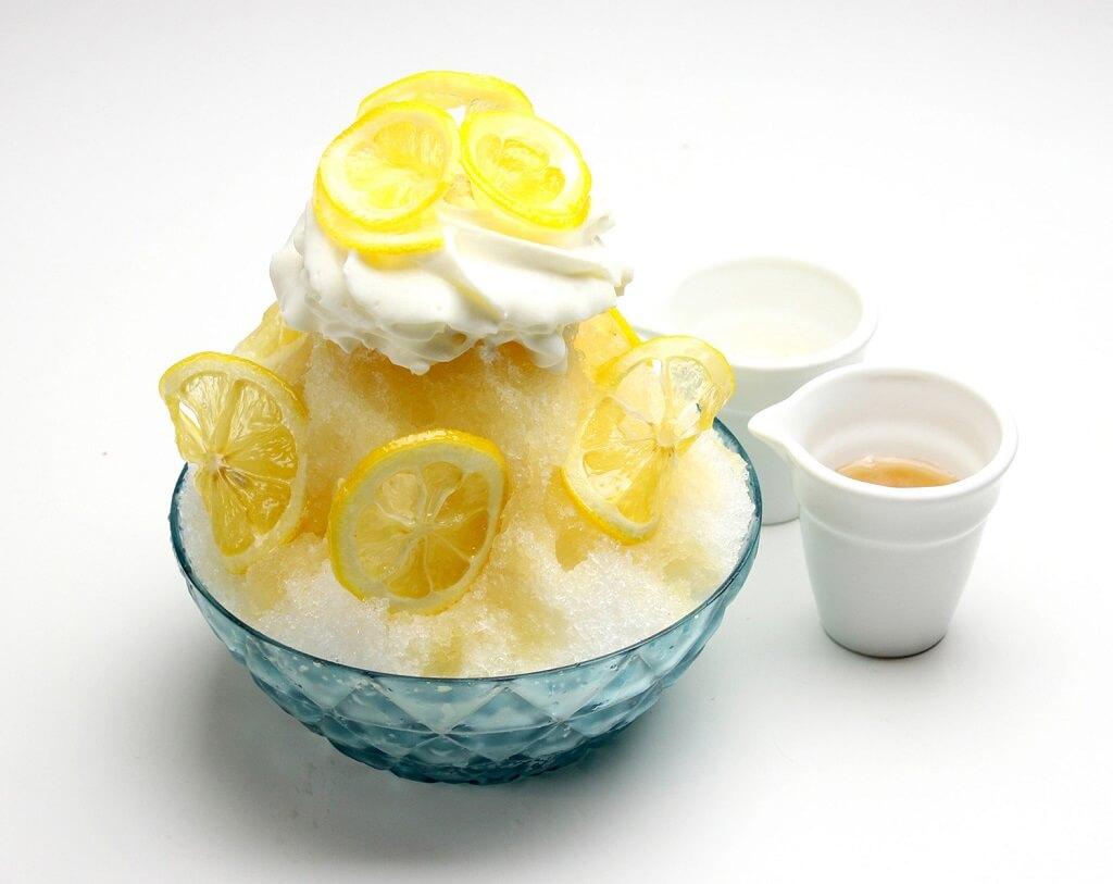 OMATCHA SALON  はちみつレモンの天然水 かき氷