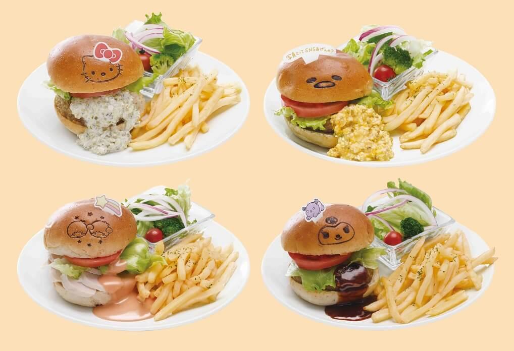 SANRIO CAFE 池袋店 ハンバーガー