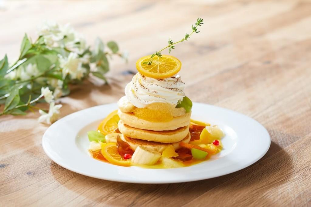Cafe & Dining ZelkovA サマーフルーツチーズティー パンケーキ