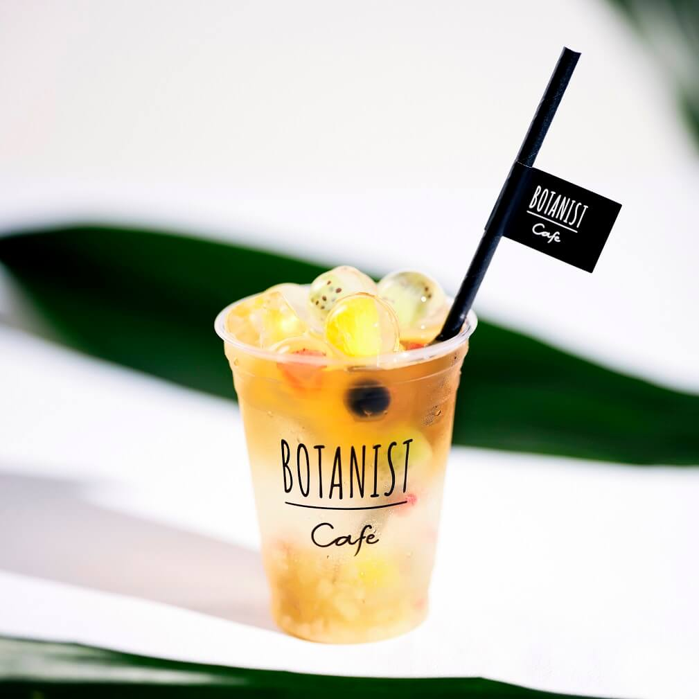 BOTANIST cafe ビー玉ゼリーのティーソーダ ザクロ×ピーチ