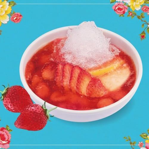 春水堂 苺かき氷豆花