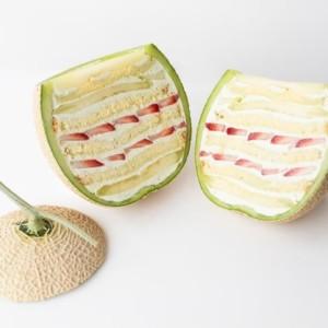 【通販】まるごとメロンケーキをお取り寄せ!フルーツ丸ごと一個を贅沢に使ったサプライズスイーツ