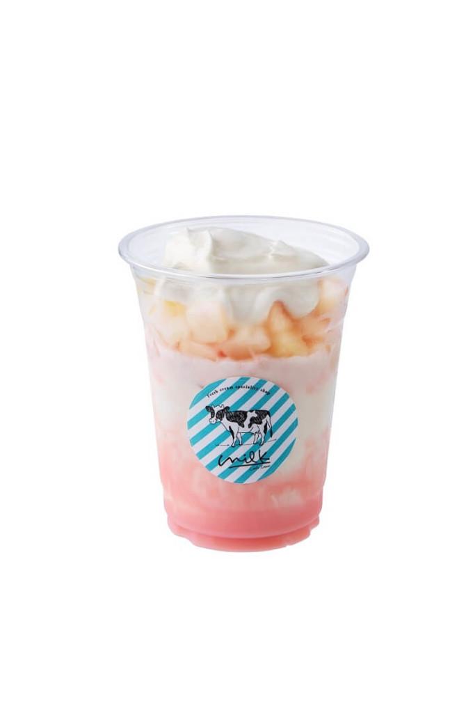 生クリームピーチミルク氷