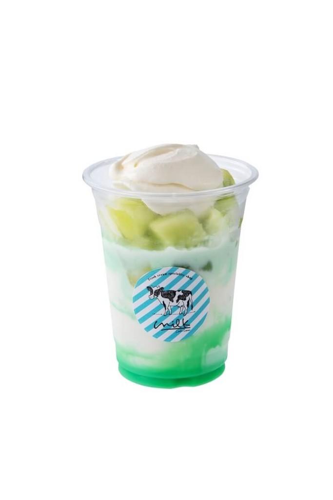 生クリームメロンミルク氷
