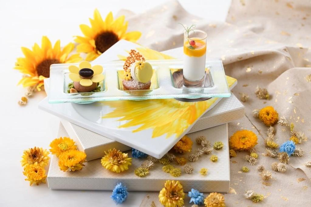 アニヴェルセルカフェ みなとみらい横浜 Sunflower plate