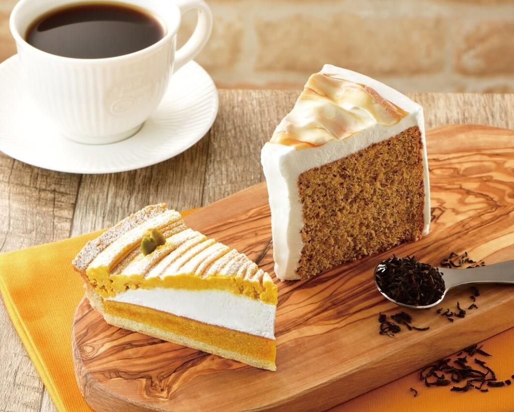カフェドクリエ 『かぼちゃのタルト』『紅茶のシフォンケーキ』
