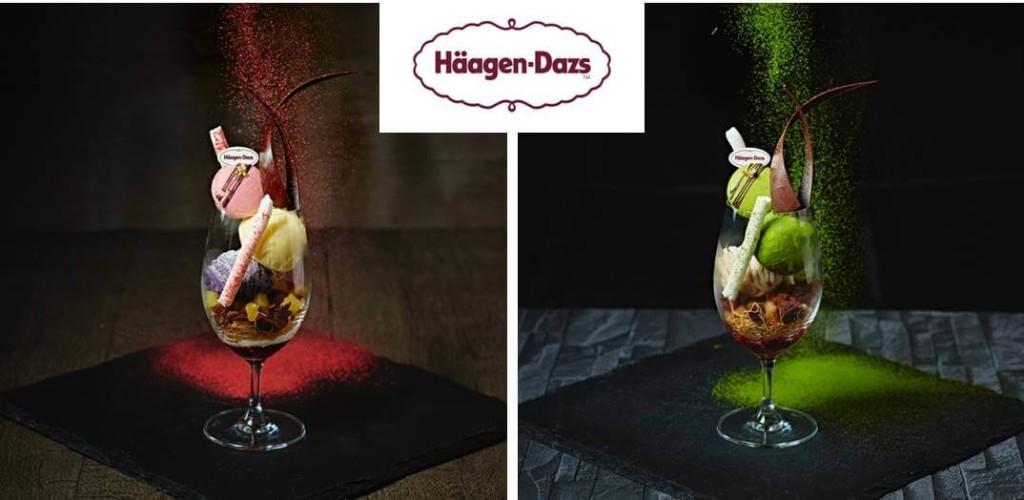 ハーゲンダッツアイスクリームを使用した2種類のパフェ