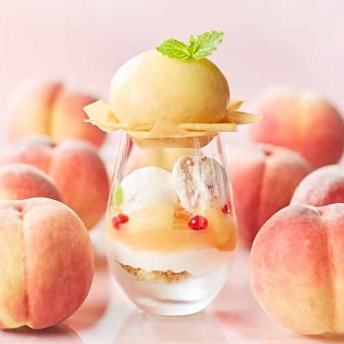 vinobuono 恋する桃パフェ